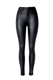 Zipper Motorcycle Street Leather Pants