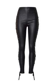 Side Band Leather Pants