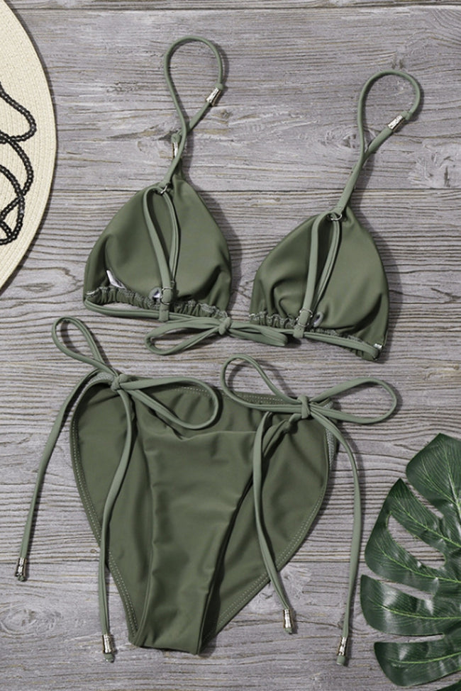 Plain Ties Bikini Set