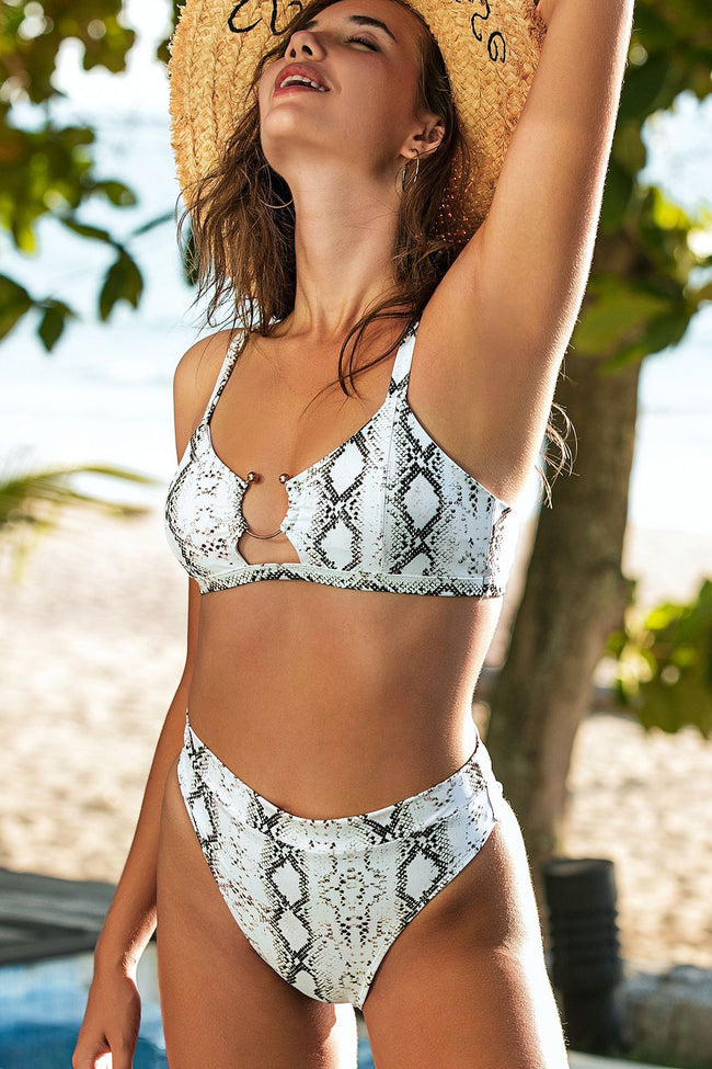 The Windward Python Print Bikini Set