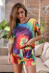 Tie dye casual home suit