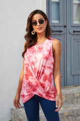 Sleeveless tie dye cross T-shirt