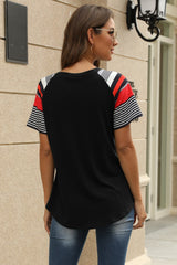 See You Again Striped  T-Shirt