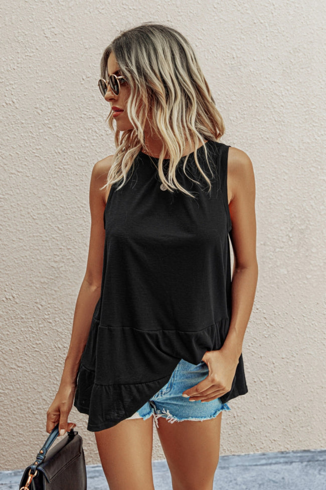 Open Back Pleated Plain Top
