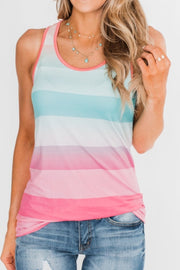 Colorful Summer Striped Vest