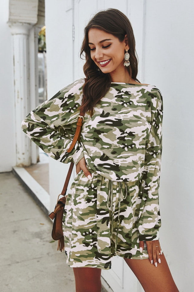 Camouflage Casual Romper