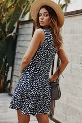 Dot Buttons Dress