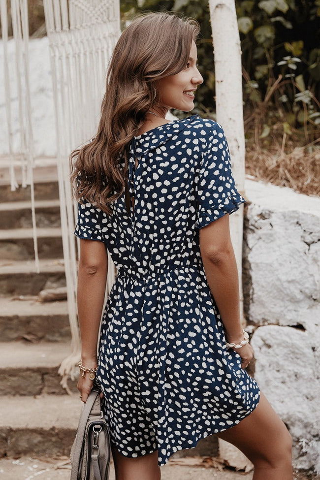 Irregular Dot Romper