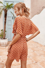 Dot Printed Romper
