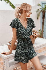 Leopards Ruffled Romper