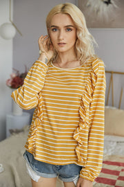 Ruffled Striped T-Shirt