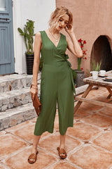 Plain Sleeveless Jumpsuit