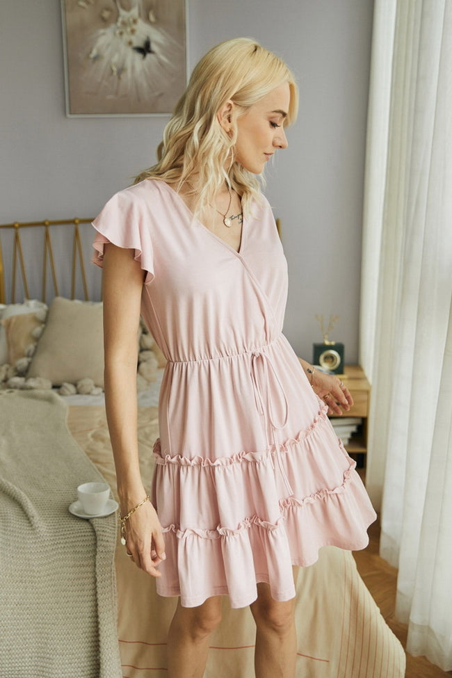 Plain Ruffled Dress