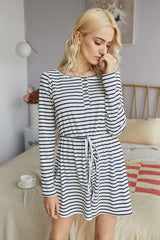 Striped Buttons Romper