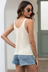 Hollowed Knit Vest