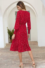 Dot Long Sleeve Dress