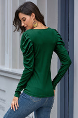 T-shirt with puff collar and sleeves