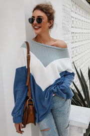 Knit sweaters with long sleeves