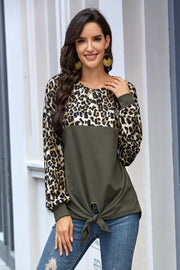 Leopard Print Long-sleeved T-shirt