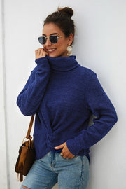 Turtleneck Pure Color Sweater