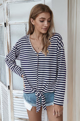 Classic Thin Striped Cardigan