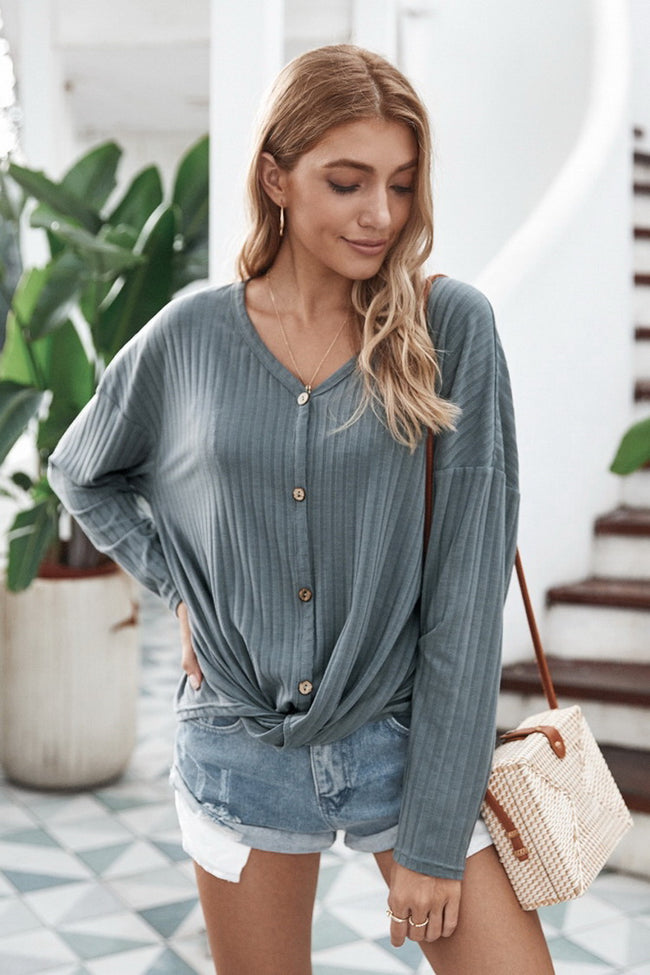 V-neck Cardigan Jacket