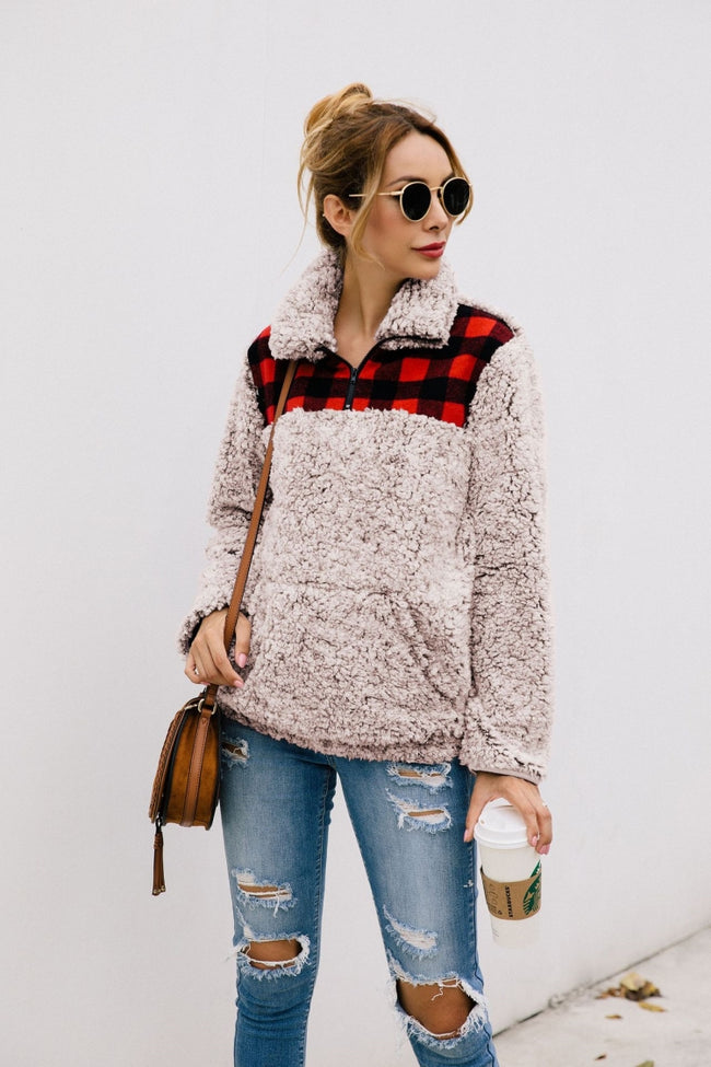 Plaid Pocket Plush Top