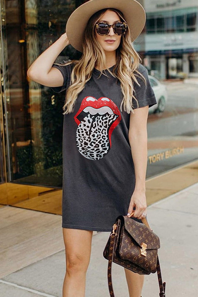 Big Lip Long T-Shirt