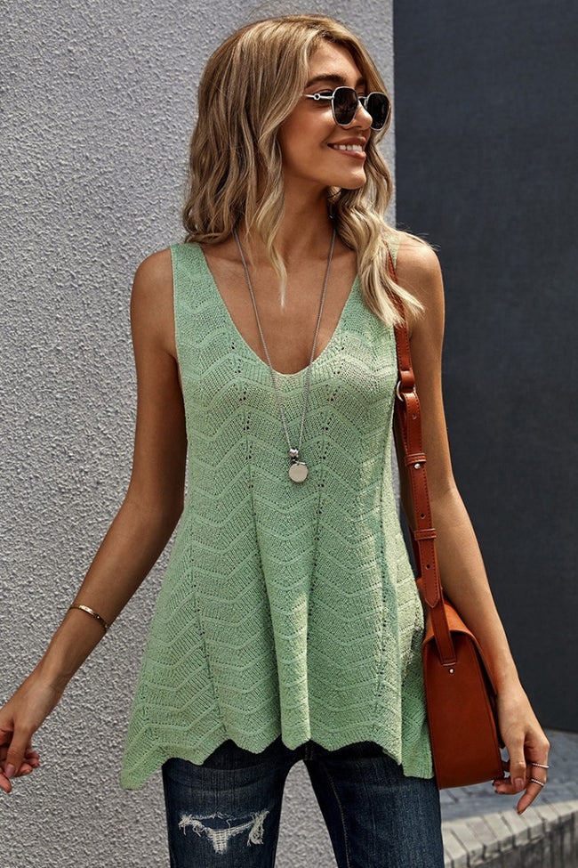 V-Neck Knitting Vest