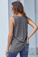 Printed Pocket Plain Vest