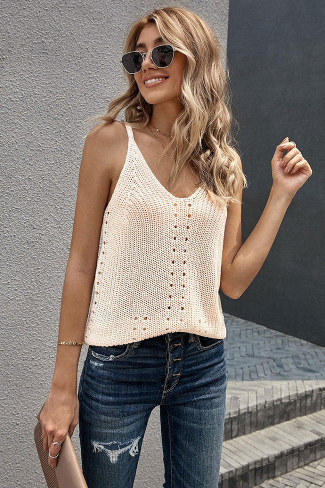Knitting Hollowed Camisole