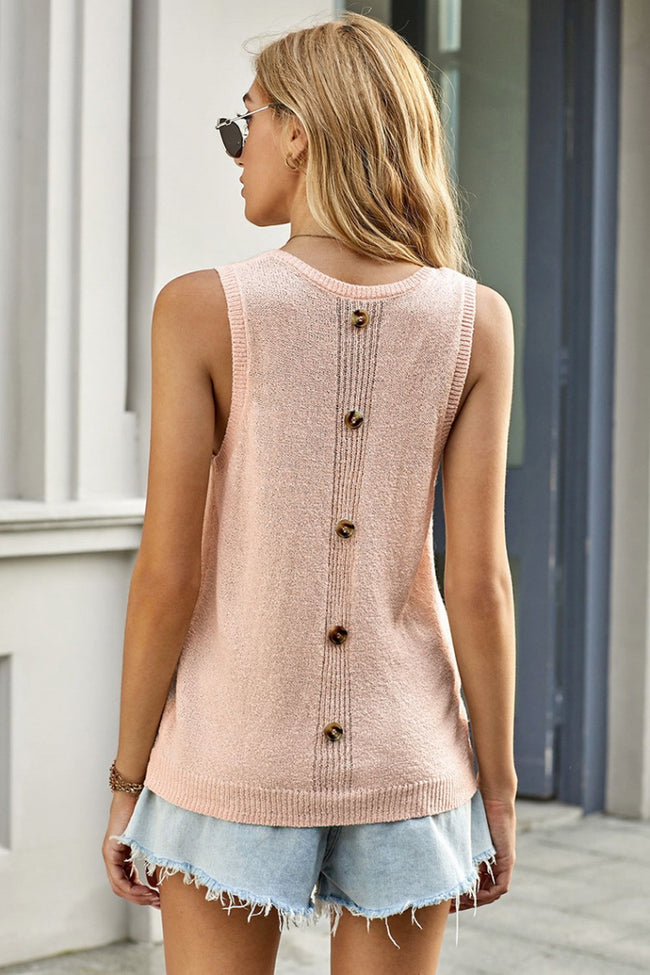 Knitting Pocket Plain Vest