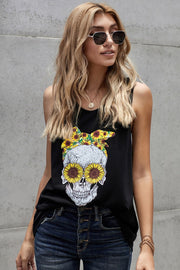 Sunflower Skeleton Vest