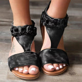 Chic Adjustable Buckle Pu Sandals