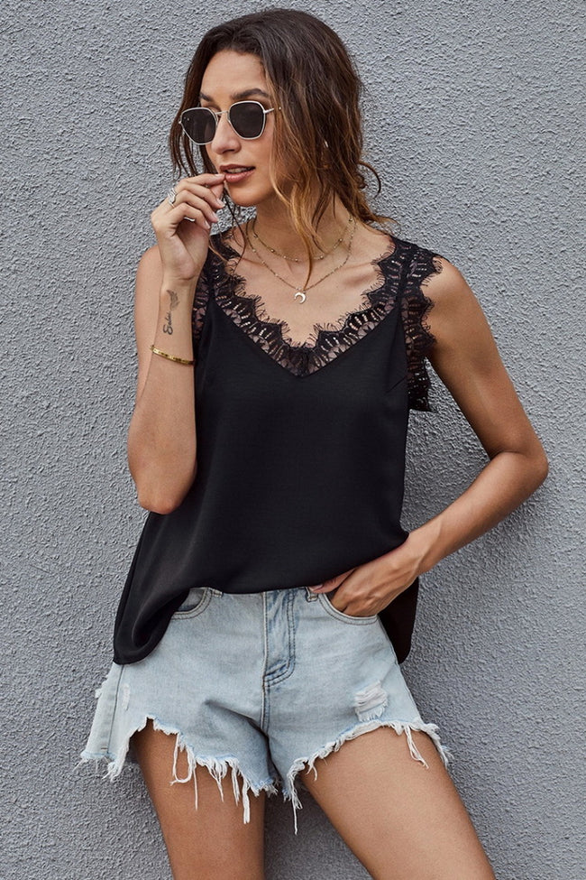 Lace Shoulder Strap Camisoles