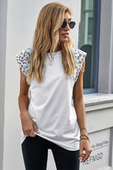 Patchwork Leopards Short Sleeve T-Shirt