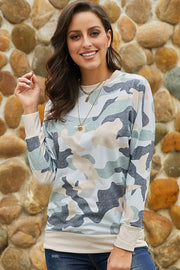 Printed Camouflage Sweater