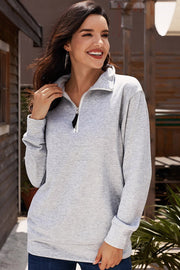 Zip Plain Sweater