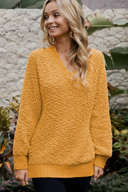 Rib Plain Sweater