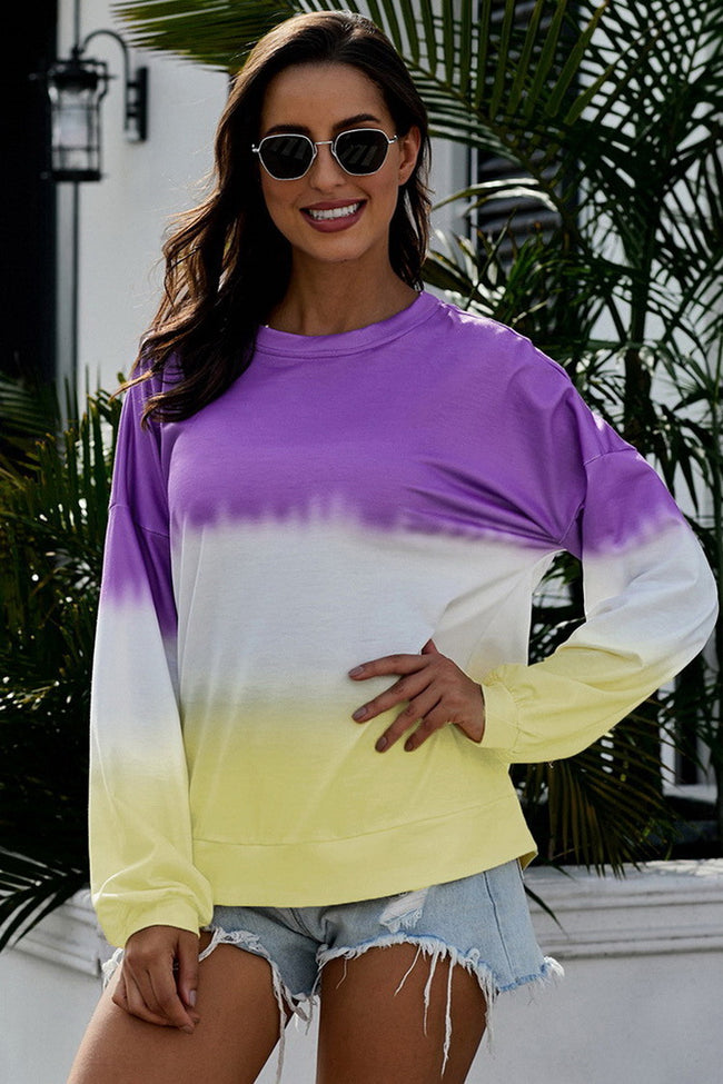 Graduated Color Sweater