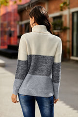 Highneck Patchwork Sweater