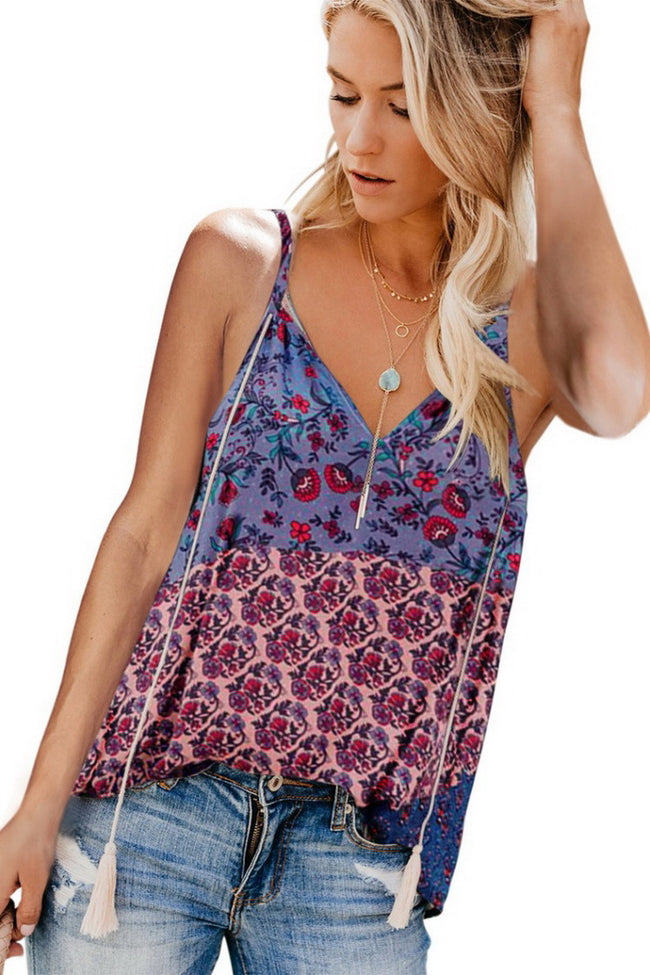 Printed Tassels Camisole