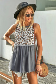 Leopard Patchwork Top