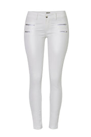 Zip Slim Leather Pants