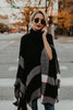 TurtleneckLoose Knitted Shawl Coat