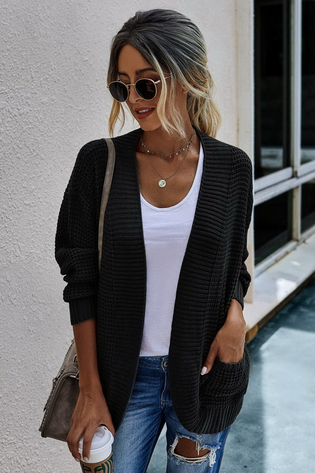 Casual loose long sleeve cardigan