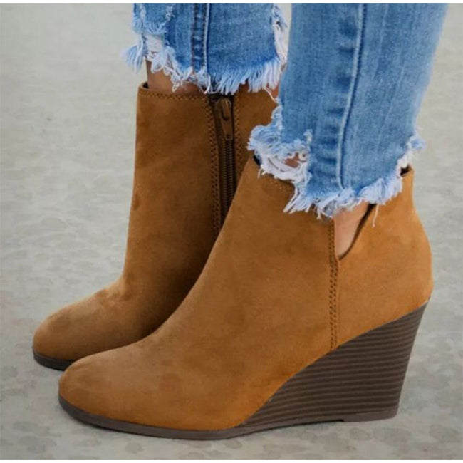 High Heels Wedges Ankle Boots