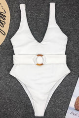 Amber Ring Belt One-piece Swimsuit - Pavacat