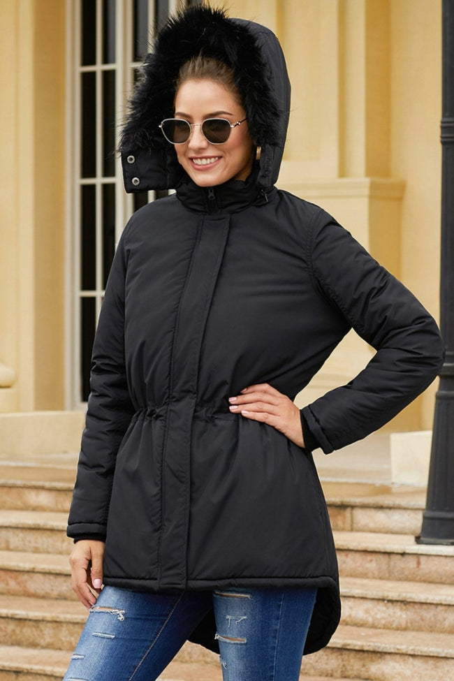 Anteroposterior Asymmetry Cotton Hooded Coat - Pavacat