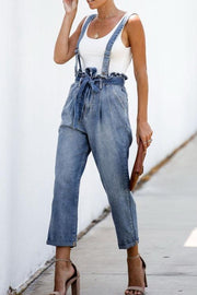 Auricularia Jeans Belt Casual Overalls - Pavacat